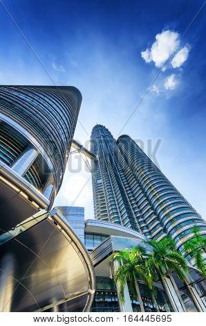 View Of The Petronas Twin Towers, Kuala Lumpur, Malaysia