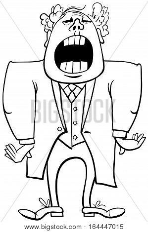 Opera Singer Coloring Page