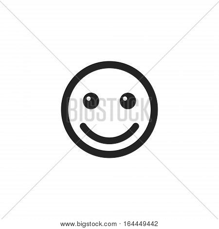 Smile smiley emoticon icon vector isolated outline object.