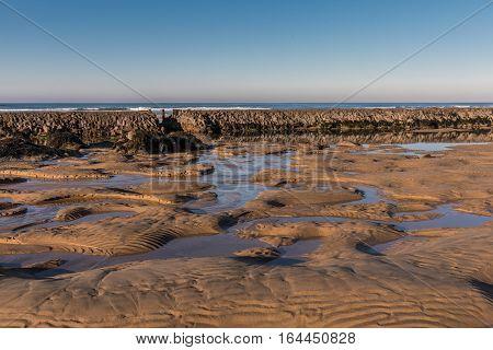 Fish lock in the Paracou beach, la Chaume (Les Sables d'Olonne, France)