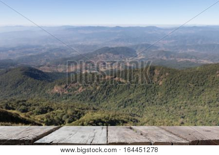 Blur Image Of Mountain View At Kew Mae Pan Nature Trail (doi Inthanon National Park) In Chiangmai,th