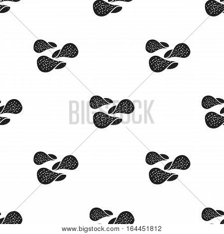 Chips vector illustration icon in black design