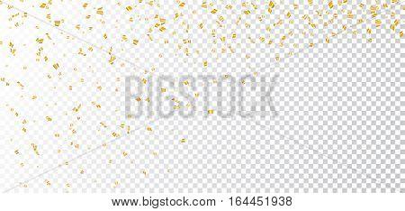 Gold White Confetti Transparent Background