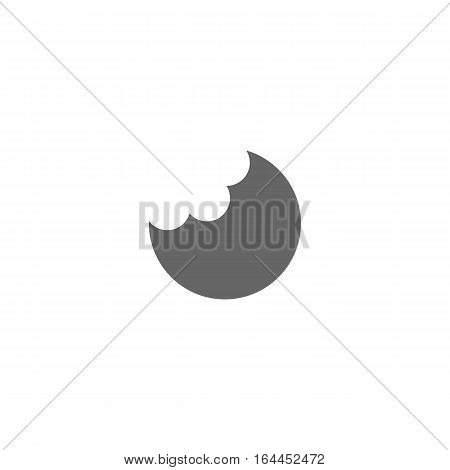 Food or pie icon isolated on a white background.