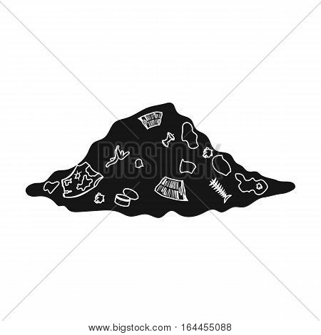 Dump icon in black design isolated on white background. Bio and ecology symbol stock vector illustration.
