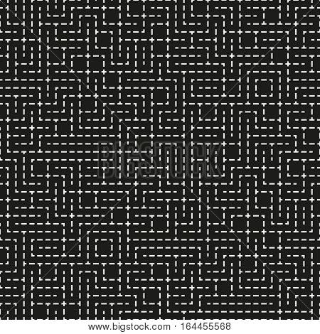 Seamless pattern with infinity rectangular maze. Modern endless ornament. Element of design.