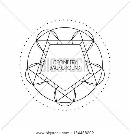 Linear geometry background. Vector lineart symbol isolated on white background