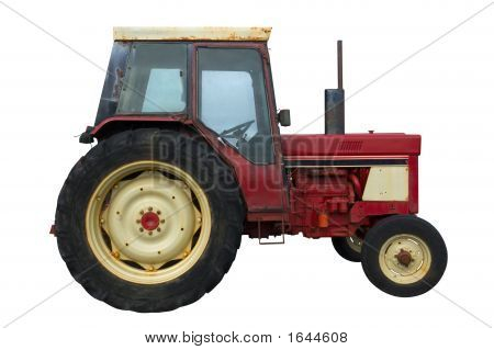 Rusty Red Tractor (Isolation)