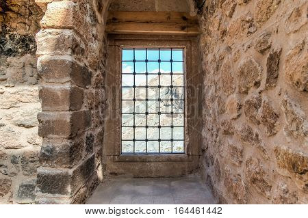 Agri, Turkey - September 29, 2013: Interior scene from Ishak Pasha Palace (ishak Pasa Sarayi)