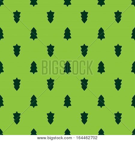 Christmas fir tree seamless pattern. Vector illustration