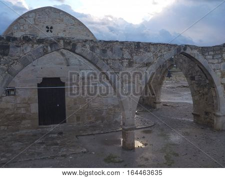 Ancient Church In Kouklia In Cyprus