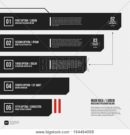 Modern Corporate Graphic Design Template With Black Elements On White Background. Useful For Adverti