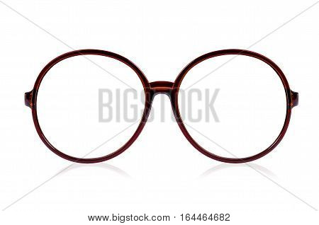 Fashion glasses style plastic-framed isolated on white background. With clipping path