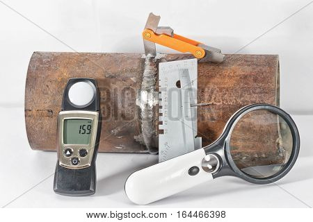 Instruments Necessary For Conducting Visual And Measuring Control