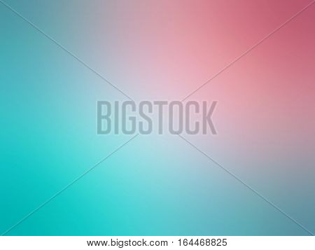 Abstract Gradient Pink Teal Colored Blurred Background