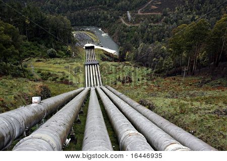 Water pipeline to Hydro-Electric power station at Tarraleah, Tasmania