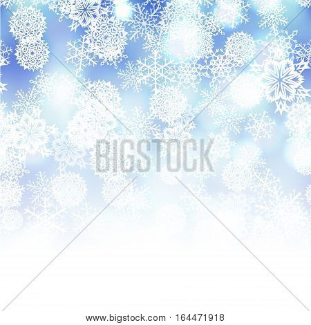 Vector winter snowflakes abstract ice cold  background