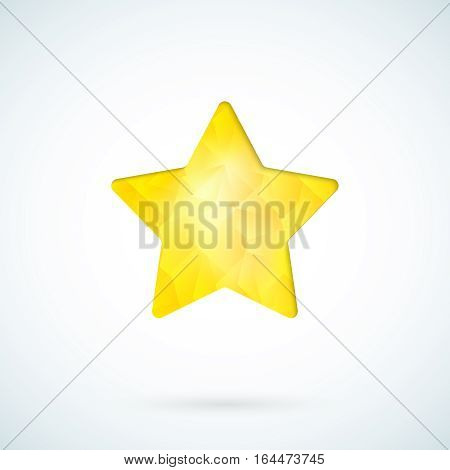 Yellow star geometric vector icon background template