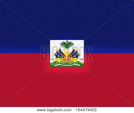 Illustration of the flag of Haiti with a grunge look