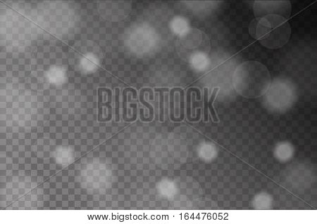 Abstract Shiny White Sparcles And Flares Effect Pattern Isolated On Transparent Background. Vector I