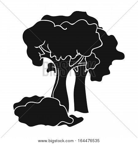 Paintball playing field icon in black design isolated on white background. Paintball symbol stock vector illustration.