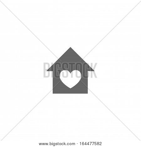 Home love icon isolated on a white background.