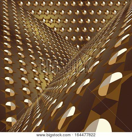David stars , geometrical background gold metal imitation