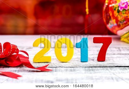 Chinese new year concept and idea, 2017