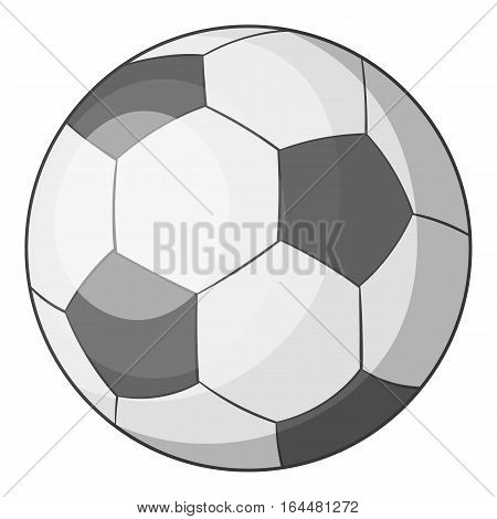 Soccer ball icon. Cartoon illustration of soccer ball vector icon for web design
