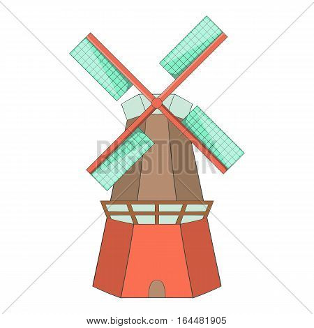 Windmill icon. Cartoon illustration of windmill vector icon for web design