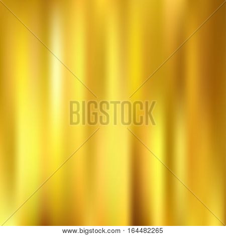 Golden metallic background texture. Gradient mesh vector illustration.