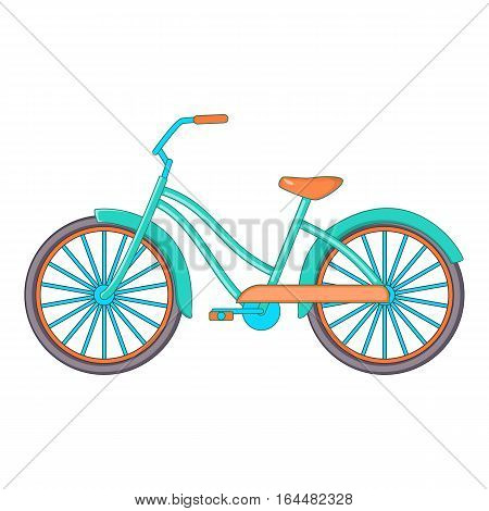 Bike icon. Cartoon illustration of bike vector icon for web design