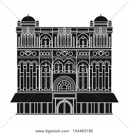 Queen Victoria Building icon in black design isolated on white background. Australia symbol stock vector illustration.