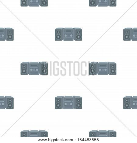 Music center icon in cartoon style isolated on white background. Household appliance symbol vector illustration.