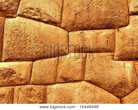 Inca stonework at Sacsayhuaman near Cusco