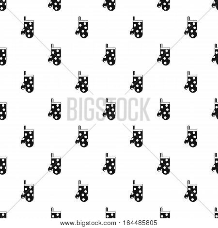 Potholder with white polka dots pattern. Simple illustration of potholder with white polka dots vector pattern for web