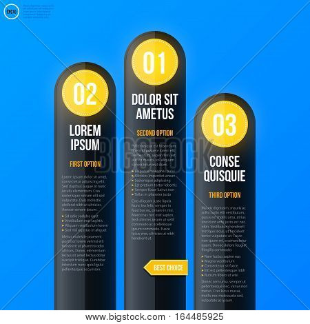 Corporate Business Chart Template On Bright Blue Background. Useful For Presentations And Advertisin