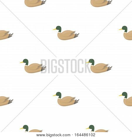 Duck icon in cartoon style isolated on white background. Hunting pattern vector illustration.