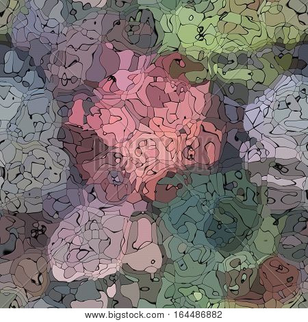 abstract stained pattern texture background gray and brown colors with black outlines - modern painting art
