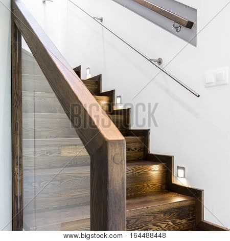 Broad Wooden Staircase