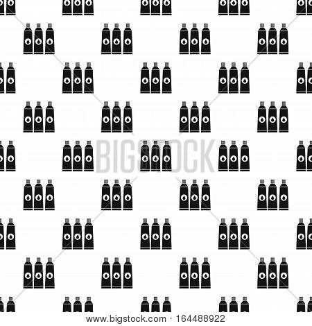 Three paint in tube pattern. Simple illustration of three paint in tube vector pattern for web