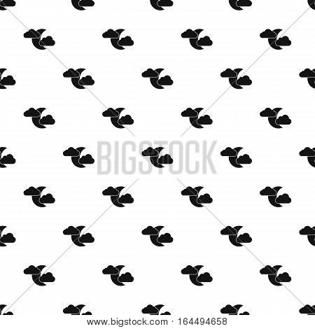 Crescent moon and clouds pattern. Simple illustration of crescent moon and clouds vector pattern for web