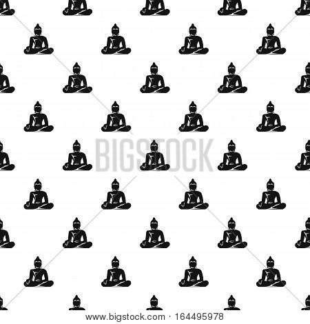 Buddha statue pattern. Simple illustration of buddha statue vector pattern for web