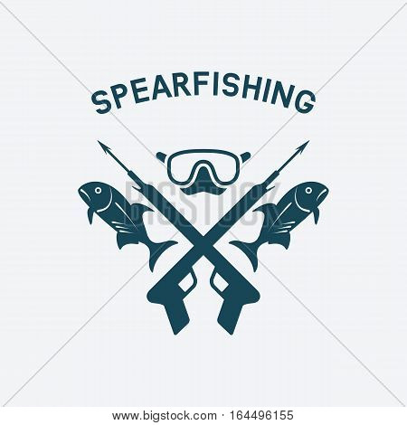 spearfishing club concept design. underwater hunting. vector illustration - eps 8