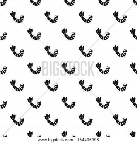 Shrimp pattern. Simple illustration of shrimp vector pattern for web
