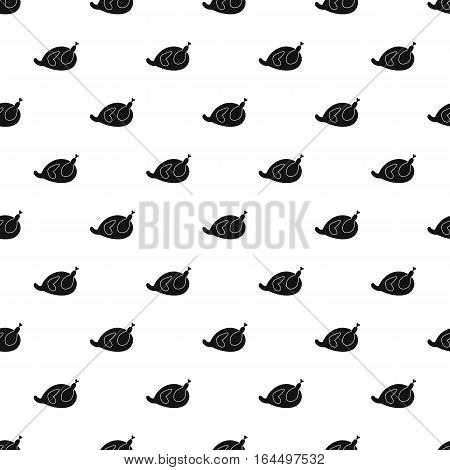 Fried chicken pattern. Simple illustration of fried chicken vector pattern for web