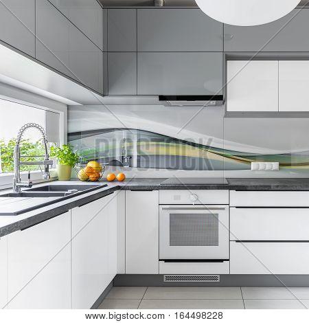 Spacious Kitchen With Window