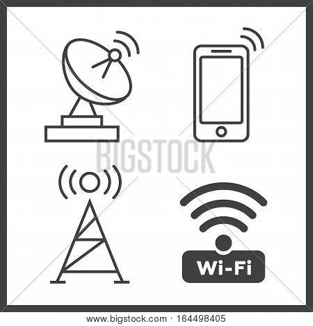 Wireless and wifi icons. Wireless Network Symbol wifi icon