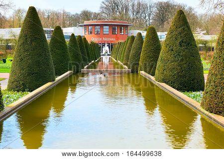 Lisse, Netherlands - April 4, 2016: People in dutch spring garden Keukenhof in Holland