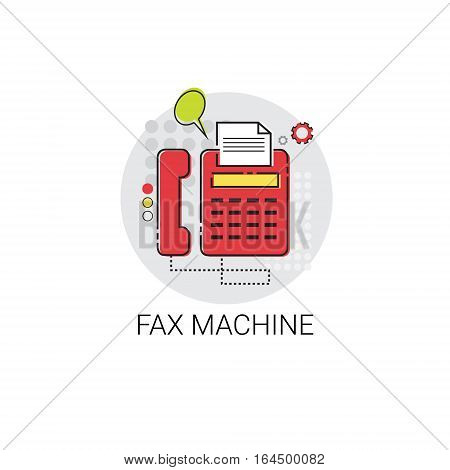 Fax Machine Work Office Technology Device Icon Vector Illustration